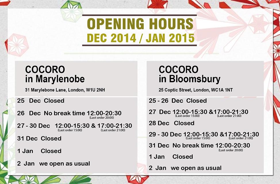 Winter holidays 2014-15