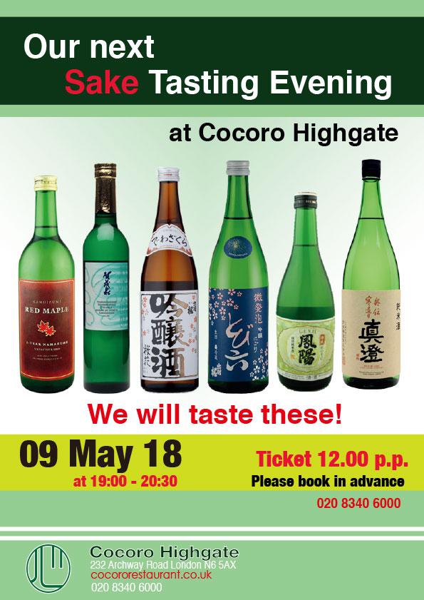 Sake Tasting Evening 9 May